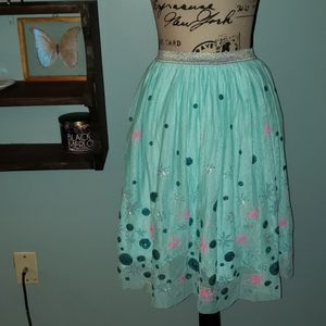 Cat & Jack Mint Tulle Girls Skirt Size Large 10/12